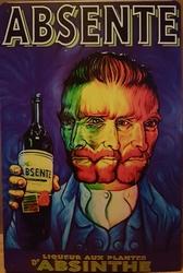 Absente Vincent van Gogh metalen reclamebord