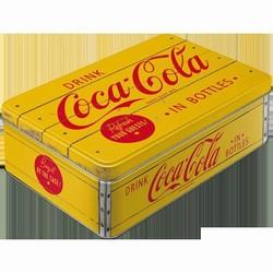 Coca cola voorraadblik groot plat