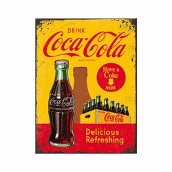 Magneet coca cola geel rood