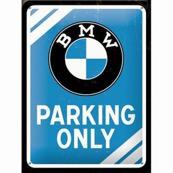 BMW parking only wandbord