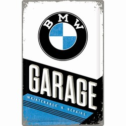 BMW Garage metalen wandbord XXL