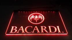 Bacardi tekst led lamp rode led