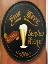 Fine beer served here pubsign