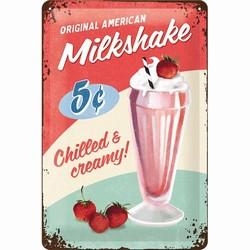 Milkshake chilled en creamy relief bord