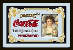 Coca cola nostalgische vrouw spiegel